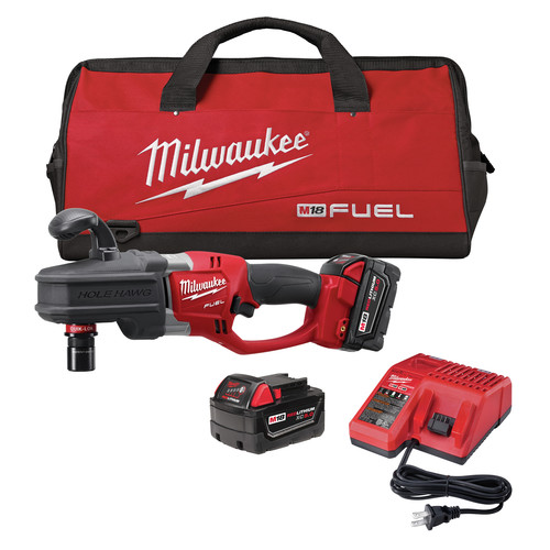 Factory Reconditioned Milwaukee 2708-82 M18 FUEL 18V Cordless Lithium-Ion HOLE HAWG Right Angle Drill with QUIK-LOK Kit