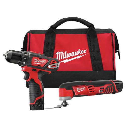NEW Milwaukee 2495-22 M12 12V Li-Ion Cordless 3/8in Drill/Driver & MultiTool Kit