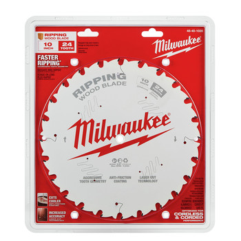 Milwaukee 48-40-1020 10 in. 24T Ripping Circular Saw Blade image number 1