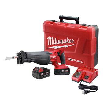 Milwaukee 2720-22 M18 FUEL Cordless Sawzall Reciprocating Saw with 2 REDLITHIUM Batteries image number 0