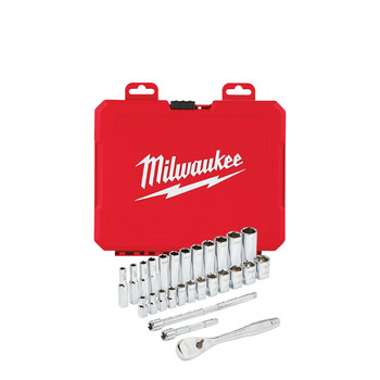 Milwaukee 48-22-9504 1/4 in. Drive 28pc Ratchet & Socket Set (Metric)