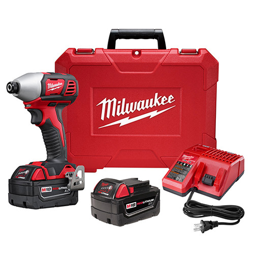 Factory Reconditioned Milwaukee 2657-82 M18 18V Cordless Li-Ion 2-Speed 1/4 in. Hex Impact Driver Kit
