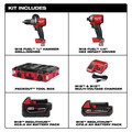 Milwaukee 2997-22CXPO M18 FUEL Hammer Drill and Impact Driver PACKOUT Kit image number 7