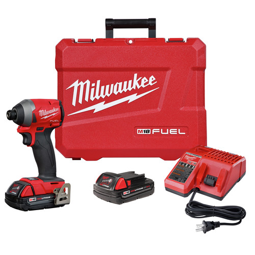 Milwaukee 2853-22CT M18 FUEL 1/4 in. Hex Impact Driver CP Kit