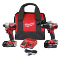 Milwaukee 2893-22CX M18 Brushless 2.0 Ah / 4.0 Ah Hammer Drill / Impact Driver Combo Kit