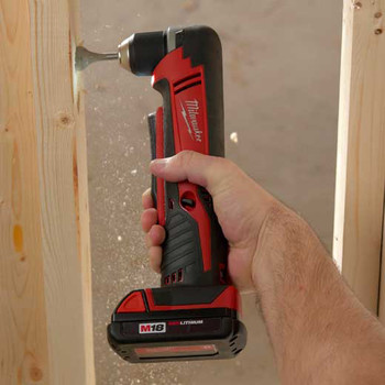 Milwaukee 2615-21CT M18 Lithium-Ion 3/8 in. Cordless Right Angle Drill Driver Kit (1.5 Ah) image number 2