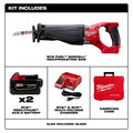 Milwaukee 2720-22 M18 FUEL Cordless Sawzall Reciprocating Saw with 2 REDLITHIUM Batteries image number 1