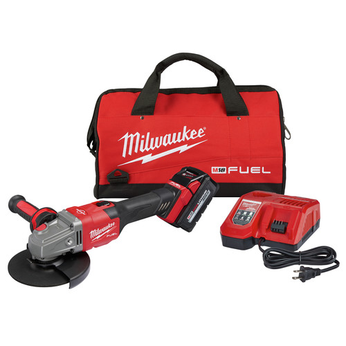Milwaukee 2981-21 M18 FUEL 4-1/2 in. - 6 in. Braking Grinder Kit with Lock-On Slide Switch & (1) 6 Ah Li-Ion Battery image number 0
