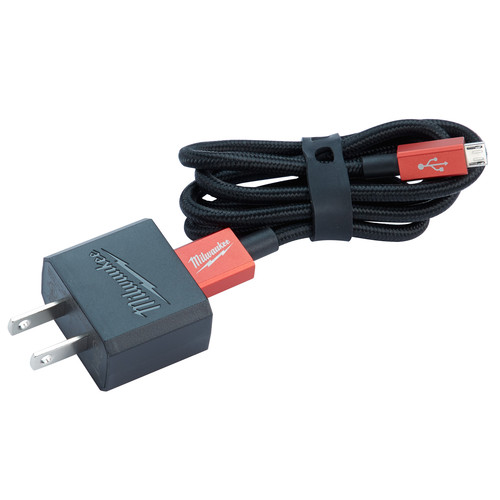 Milwaukee 48-59-1202 3 ft. Micro-USB Cable and 2.1 Amp Wall Charger