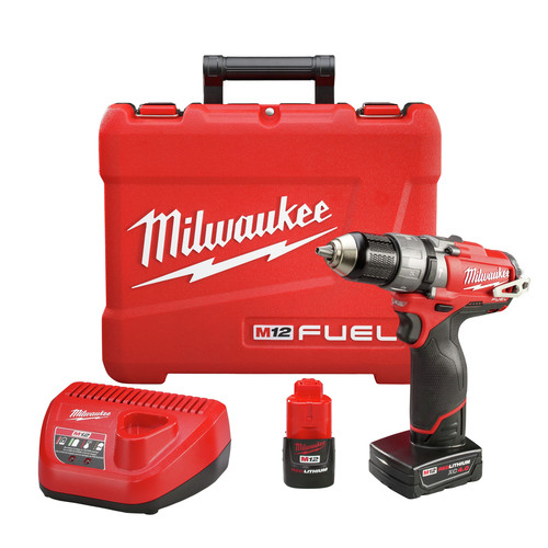Factory Reconditioned Milwaukee 2404-82 M12 FUEL Lithium-Ion 1/2 in. Hammer Drill Driver