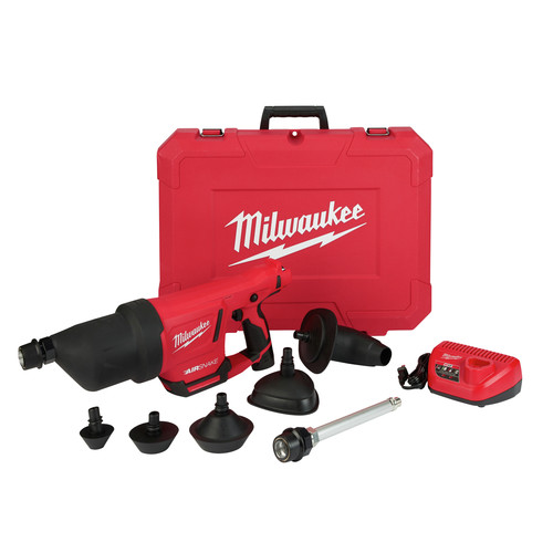 Milwaukee 2572B-21 M12 AIRSNAKE Drain Cleaning Air Gun Kit image number 0