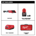 Milwaukee 2557-22 M12 FUEL 3/8 in. Ratchet Kit with (2) Li-Ion Batteries image number 1
