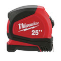 Milwaukee 48-22-7125C 25 ft. Magnetic and Compact Tape Measure (2 Pc) image number 1