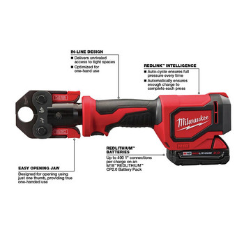 Milwaukee 2674-22C M18 Short Throw Press Tool Kit with PEX Crimp Jaws image number 2