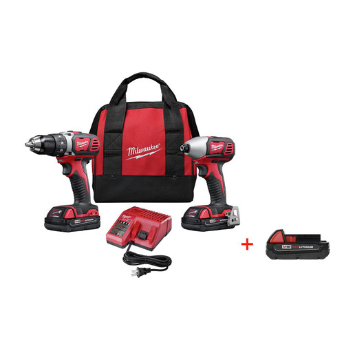 Milwaukee 2691-22P M18 Cordless Lithium-Ion 2-Tool Combo Kit image number 0