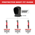 Milwaukee 49-16-2564 M12 FUEL Right Angle Impact Wrench Protective Boot image number 1