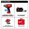 Milwaukee 2864-22 M18 FUEL with ONE-KEY High Torque Impact Wrench 3/4 in. Friction Ring Kit image number 5