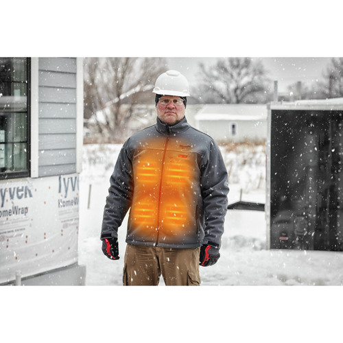 Milwaukee 202R-202X M12 12V Li-Ion Heated ToughShell Jacket (Jacket Only) - 2XL image number 7