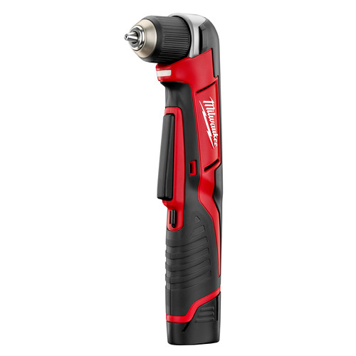 Milwaukee 2415 21 M12 Lithium Ion 3 8 In Right Angle Drill Driver Kit
