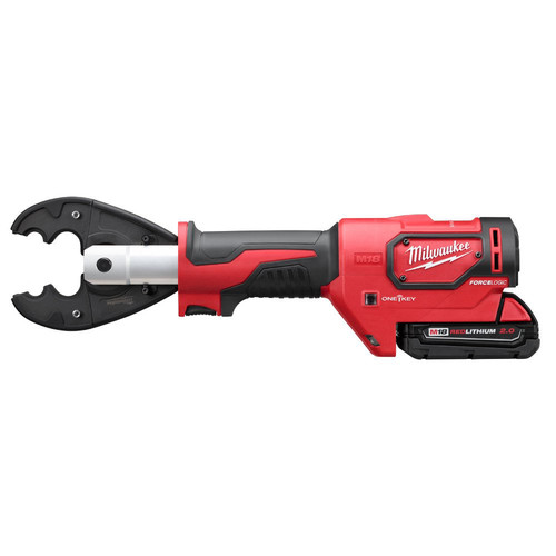 Milwaukee 2678-22O M18 Force Logic 18V 2.0 Ah Cordless Lithium-Ion 6T Utility Crimper Kit with D3 Groves and Fixed O Die image number 2