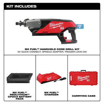 Milwaukee MXF301-1CP MX FUEL Lithium-Ion Handheld Core Drill Kit image number 1