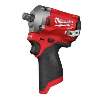 Milwaukee 2555P-20 M12 FUEL Stubby 1/2 in. Impact Wrench with Pin Detent (Tool Only)