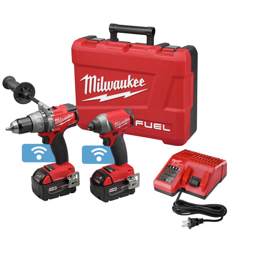Factory Reconditioned Milwaukee 2796-82 M18 FUEL 18V Cordless Lithium-Ion 2-Tool Combo Kit with ONE-KEY Connectivity