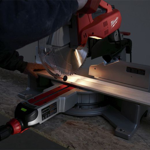 Milwaukee 6955-20 12 in. Dual-Bevel Sliding Compound Miter Saw image number 4