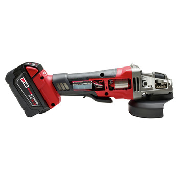 Milwaukee 2780-22 M18 FUEL 4-1/2 in. - 5 in. Paddle Switch Grinder with 2 REDLITHIUM Batteries image number 4