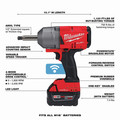 Milwaukee 2769-22 M18 FUEL Lithium-Ion 1/2 in. Extended Anvil Controlled Torque Impact Wrench Kit with ONE-KEY (5 Ah) image number 6