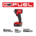 Milwaukee 2854-22CT M18 FUEL Lithium-Ion Brushless Compact 3/8 in. Cordless Impact Wrench Kit with Friction Ring (2 Ah) image number 2