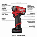 Milwaukee 2552-22 M12 FUEL Stubby 1/4 in. Impact Wrench Kit image number 7