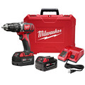 Factory Reconditioned Milwaukee 2607-82 M18 Lithium-Ion XC 1/2 in. Cordless Hammer Drill Driver Kit (3 Ah) image number 0