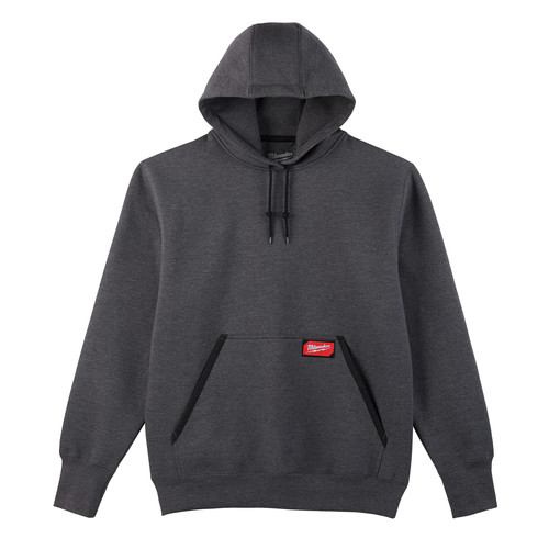Milwaukee 350G-3X Heavy Duty Pullover Hoodie - Gray, 3X image number 0