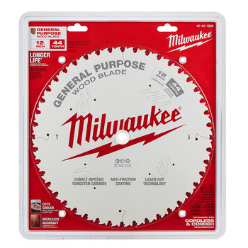 Milwaukee 48-40-1220 12 in. 44T General Purpose Circular Saw Blade image number 1
