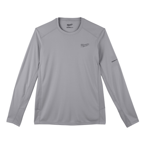 Milwaukee 415G-3X WORKSKIN Lightweight Long Sleeve Performance Shirt - Gray, 3X image number 0