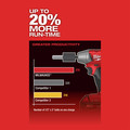 Milwaukee 2758-22 M18 FUEL 5.0 Ah Cordless Lithium-Ion 3/8 in. Compact Impact Wrench Kit with Friction Ring & ONE-KEY Connectivity image number 4