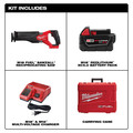 Milwaukee 2821-21 M18 FUEL Brushless Lithium-Ion SAWZALL 1-1/4 in. Cordless Reciprocating Saw Kit with (1) Battery (5 Ah) image number 1