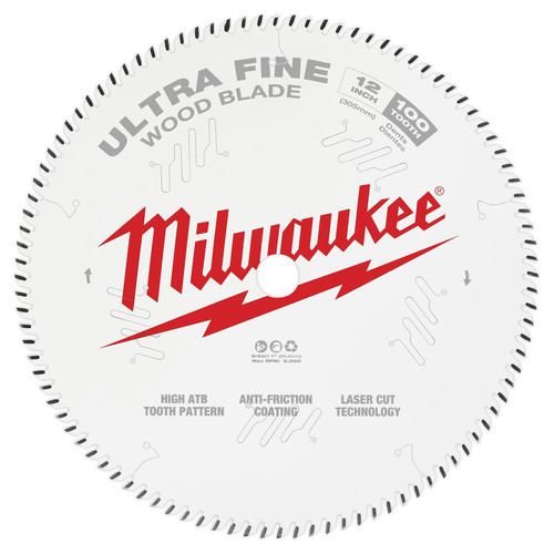 Milwaukee 48-40-1228 12 in. 100T Ultra Fine Finish Circular Saw Blade