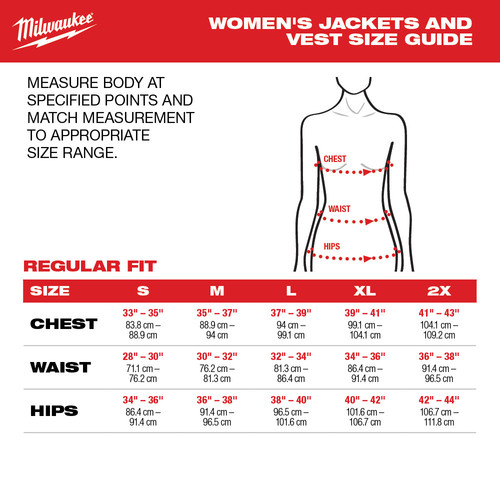 Milwaukee 333B-20XL M12 12V Li-Ion Heated Women's AXIS Vest (Vest Only) image number 4