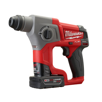 Milwaukee 2416-22XC M12 FUEL Lithium-Ion 5/8 in. SDS-Plus Rotary Hammer Kit with 2 XC Batteries image number 1