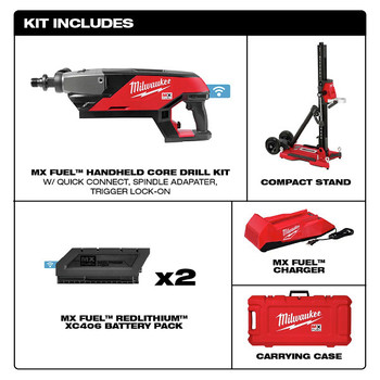 Milwaukee MXF301-2CXS MX FUEL Lithium-Ion Handheld Core Drill Kit with Stand image number 1