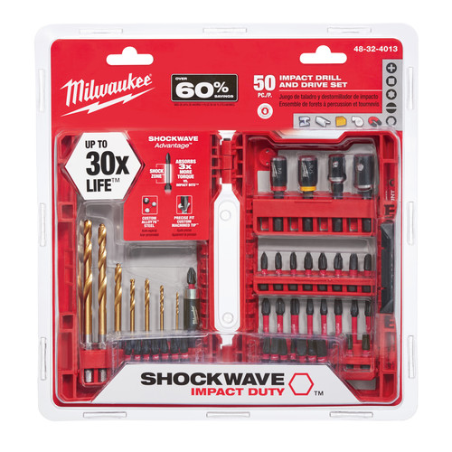 Milwaukee 48-32-4013 50 Pc SHOCKWAVE Impact Duty Driver Bit Set image number 0