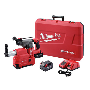 Milwaukee 2715-22DE M18 FUEL Lithium-Ion 1-1/8 in. SDS Plus Rotary Hammer and HAMMERVAC Dedicated Dust Extractor Kit image number 0
