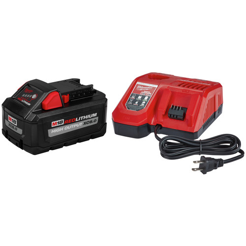 Milwaukee 48-59-1880 M18 REDLITHIUM HIGH OUTPUT XC 8 Ah Lithium-Ion Battery and M18 /M12 Charger Kit image number 0