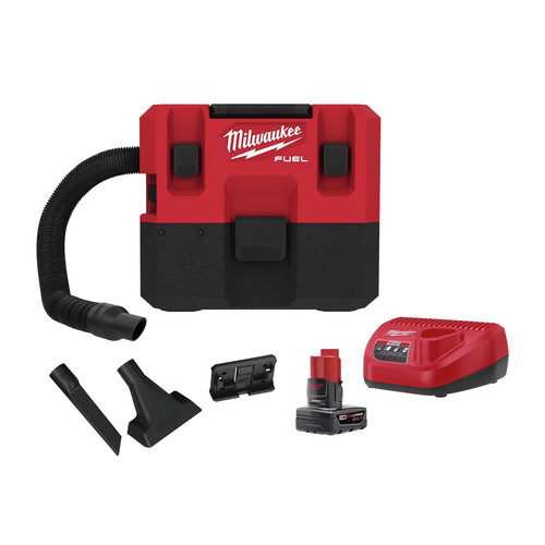 Milwaukee 0960-21 M12 FUEL Lithium-Ion Brushless 1.6 Gallon Cordless Wet/Dry Vacuum Kit (6 Ah) image number 0