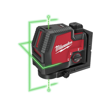 Milwaukee 3522-21 REDLITHIUM USB Rechargeable Green Cross Line and Plumb Points Laser