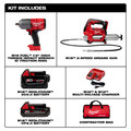 Milwaukee 2767-22GG M18 FUEL 1/2 in. High Torque Impact Wrench Kit with Friction Ring and Free Grease Gun image number 1