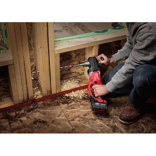 Milwaukee 2708-22 M18 FUEL HOLE HAWG Lithium-Ion 1/2 in. Cordless Right Angle Drill Kit with QUIK-LOK (5 Ah) image number 7