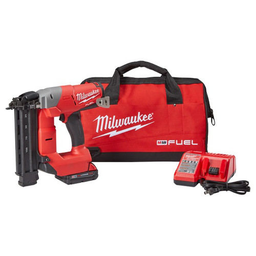 Factory Reconditioned Milwaukee 2740-81CT M18 FUEL 18V Cordless Lithium-Ion 18-Gauge Brushless Brad Nailer Kit